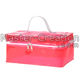 red cosmetic case bag