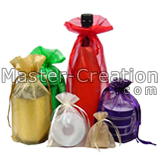 colorful organza drawstring pouch