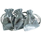 silver drawstring pouch