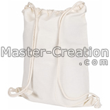 white cotton sling bag