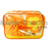 orange pvc makeup case