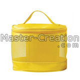 yellow mesh cosmetic case