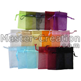 colored organza gift bag