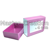 die cut paper box with window