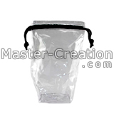 clear pvc drawstring bag