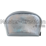 silver round cosmetic case