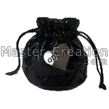 black quilted drawstring pouch