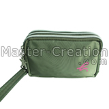 army green cosmetic purse