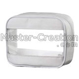 white cosmetic bag with window