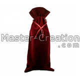 red wine drawstring pouch