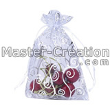 silver hot stamp organza bag